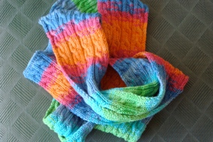 The coiled scarf